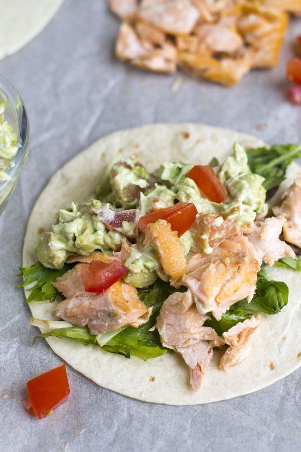 Wraps met zalm en avocado
