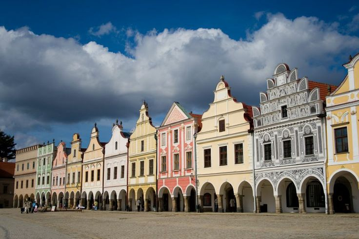 Stunning Square in Telč, #Telč #Czech Republic