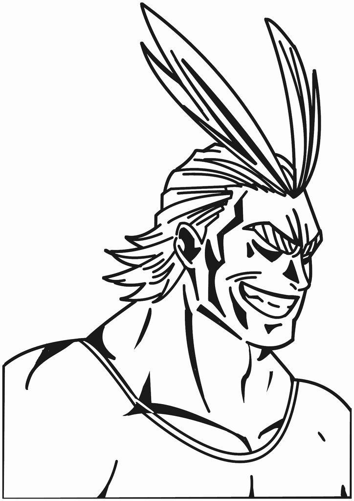 My Hero Academia Coloring Page Fresh All Might Toshinori Yagi My Hero Academia Anime Decal Coloring Pages My Hero My Hero Academia