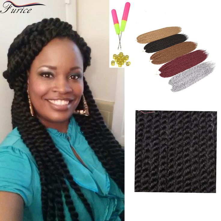 Black Havana Mambo Twist Hair Extension Color 1/2/4/27 Crochet Twist Hair Extension Havana Twist Synthetic Braiding Hair Curly