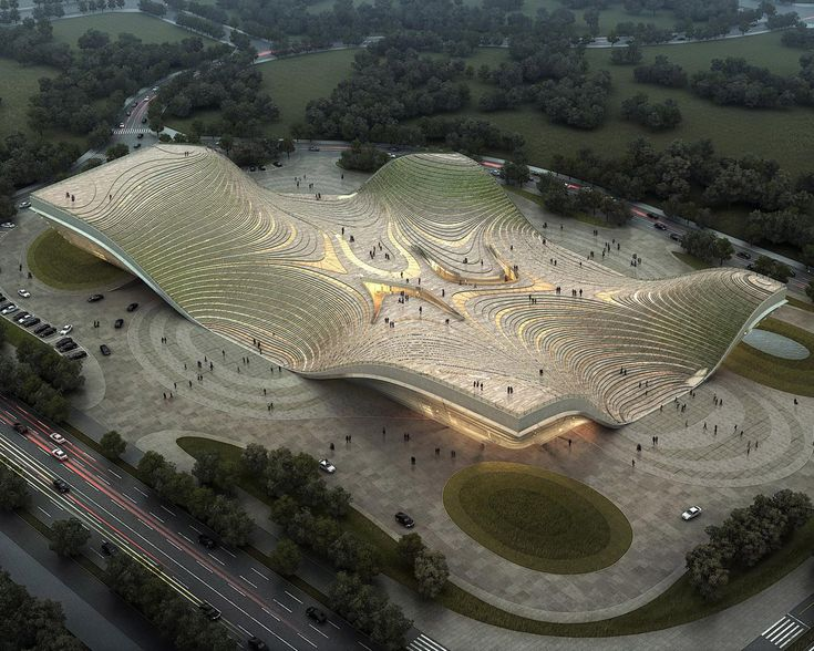 Exhibition Center of Otog by Kuan Wang