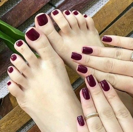 Pure Red Color Nails Designs Ideas 2018 For Christmas
