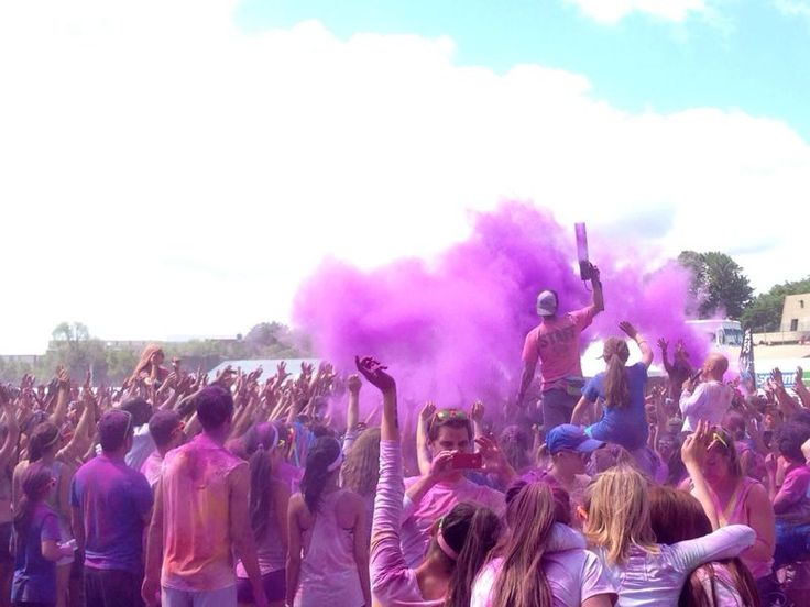 Do one of the color run. They are so rad (Picture taken at the 5k Color Me Rad)