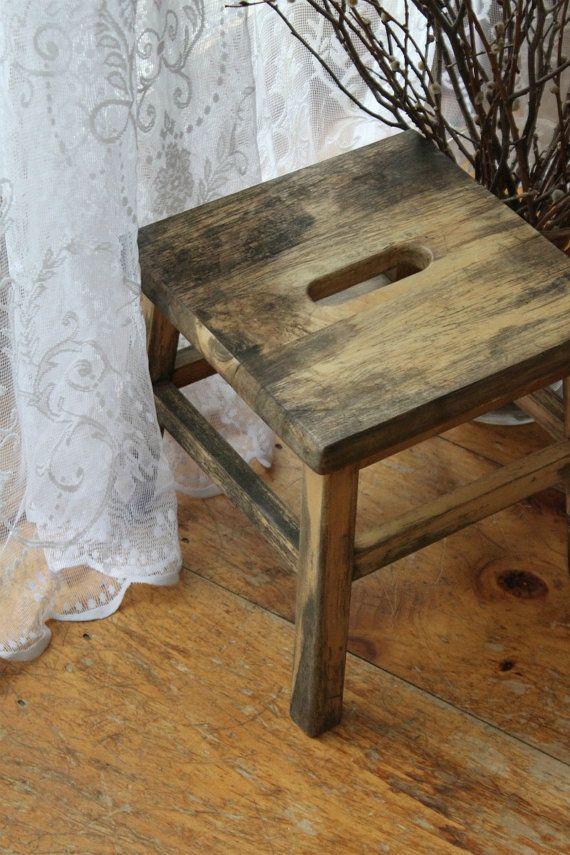 Vintage Wood Step Stool Etsy Vintage And Stools