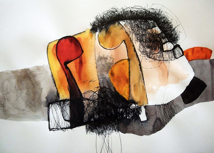 Serie sin título 2009. A.Morales  Acuarela.   40.5 x 29.5 cm.