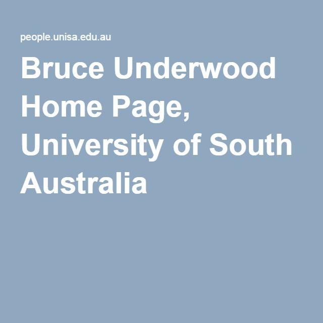 Bruce Underwood Home Page, University of South Australia