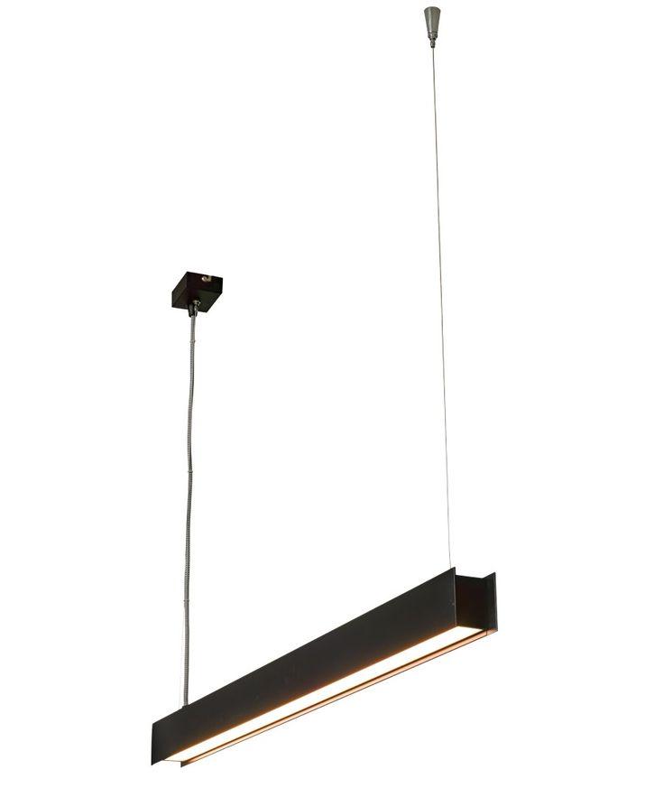 LEDlux Saba 1500 Lumen 1200mm Dimmable Pendant in Black | Pendant Lights | Lighting