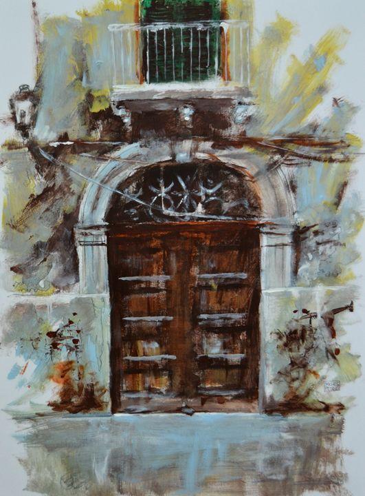 #art Ancient portal 001 - Michele Petrelli Painter
