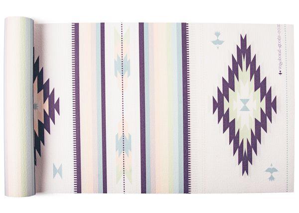 Elephant Gaiam Premium Print Reversible Lightweight Thick Cushion Yoga Mat 5mm