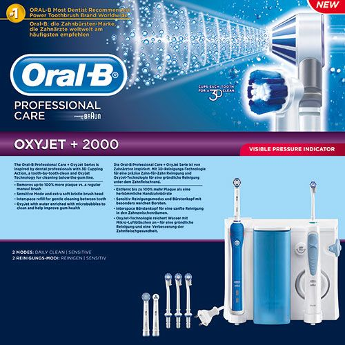 Oral B Braun Professional Care Center (Irrigator Oxyjet +2000) | Familypharmacy.gr