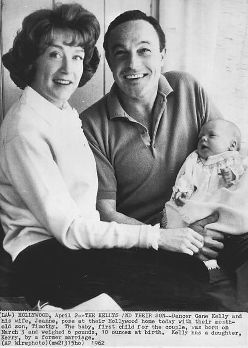 Gene Kelly, wife Jeanne Coyne and son Tim