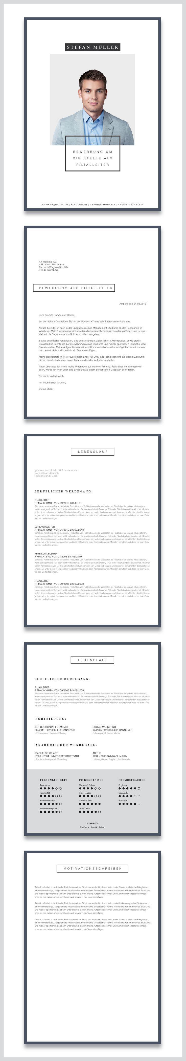 Design Portfolio Unsere Bewerbungsvorlage Cv Template Minimal Art In Der Farbe Deep Blue Zei Visitenkarten Kostenlos Vorlagen Visitenkarten Muster