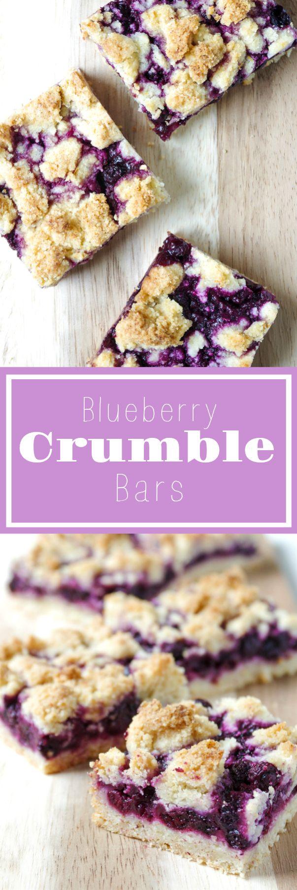 Blueberry Crumble Bars via @theforkedspoon #blueberry #dessert #easyrecipe #bars #sweet #theforkedspoon via @theforkedspoon