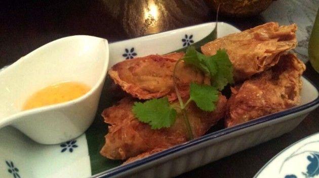 The Taro Roll from Sabai Sabai Northern Thai Tapas restaurant in Toronto - http://foodiesinked.com/restaurants/sabai-sabai-thai-toronto/   #food #restaurants