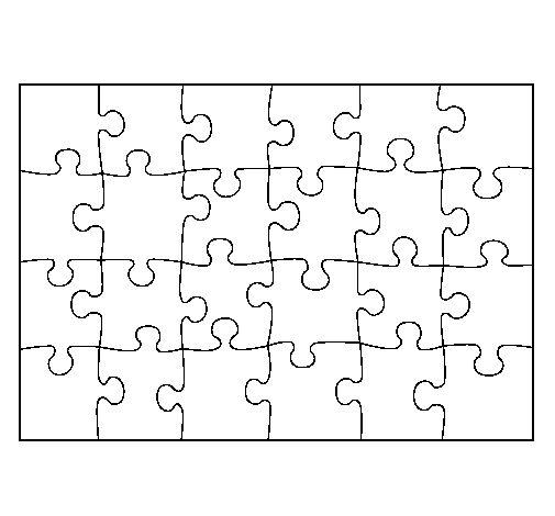Piezas del rompecabezas para colorear - Imagui