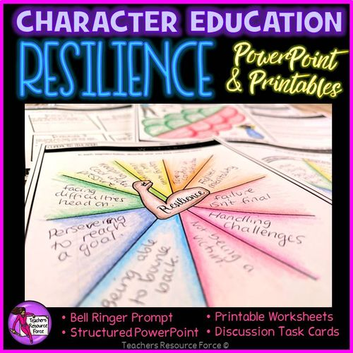 Resilience Lesson: Character Education PSHE (PowerPoint, Task Cards & Printables)