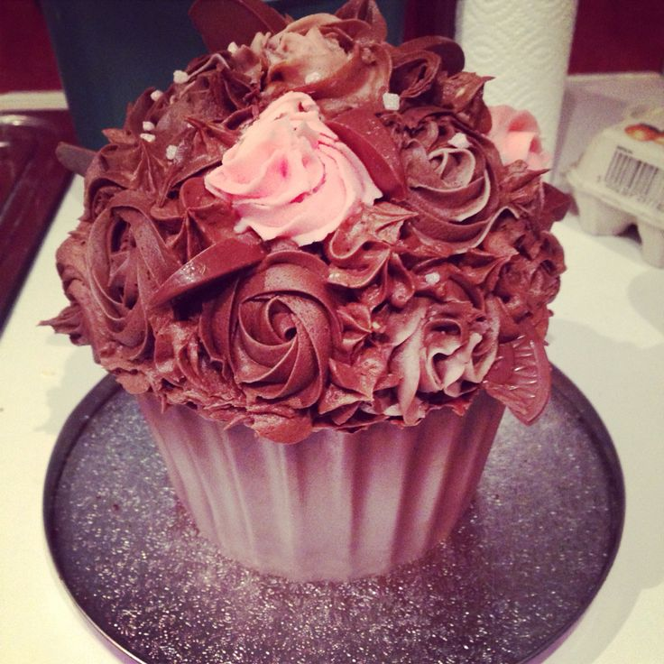 Giant birthday cupcake!
