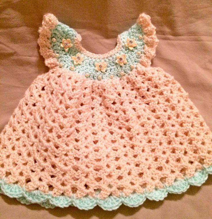 Crochet Newborn Dress, Newborn Dress, Pinafore Dress, Newborn Clothes, Crochet Pinafore Dress, Crochet Baby Dress, Newborn Photo Props by PatternsToPretty on Etsy