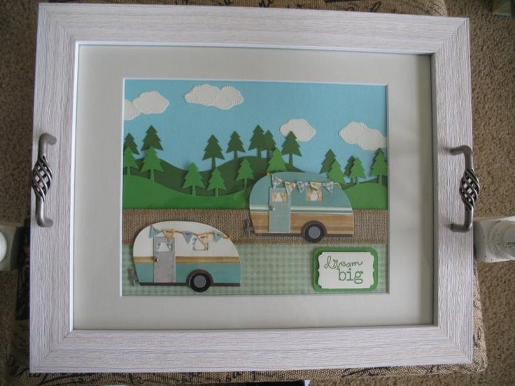 Little Campers serving tray with MFT stamps dies