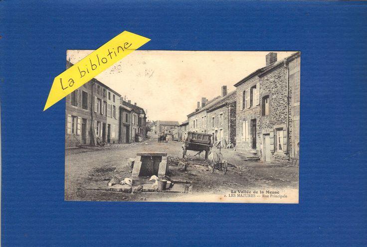 CPA ANIMEE - LES MAZURES (08) - RUE PRINCIPALE - 1924