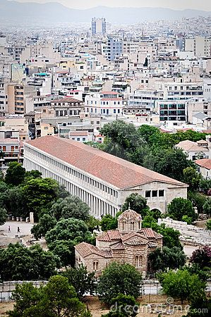 Stoa of Attalos, Athens Greece by Ibajars, via Dreamstime
