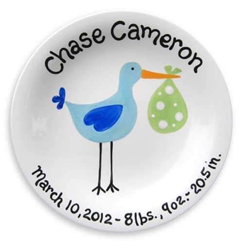 42 best personalized birth plates tiles images on pinterest new baby birth plate made in the usa 4500 negle Gallery