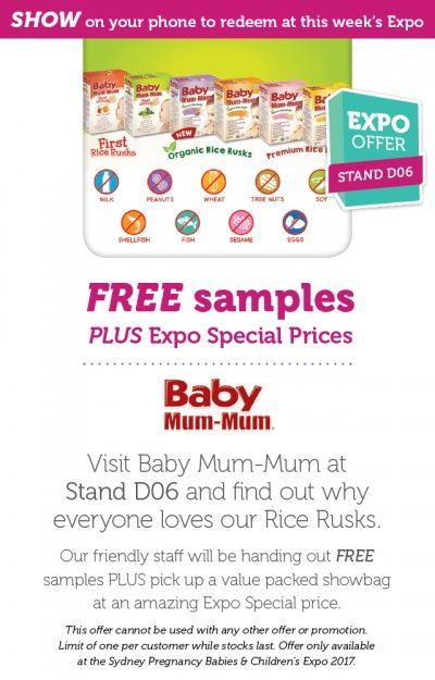 Check out Baby Mum-Mum at the Sydney Pregnancy Babies & Children's Expo, 19-21 May