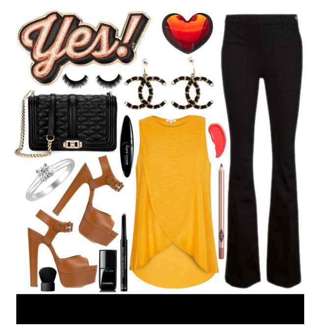 """""""yes!"""" by julietacelina ❤ liked on Polyvore featuring Rebecca Minkoff, Anya Hindmarch, Chanel, River Island, Frame Denim, Brian Atwood, Tiffany & Co., Baccarat, Christian Dior and NARS Cosmetics"""