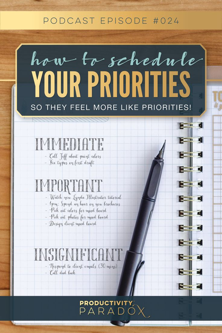 Learn How To Schedule the Things That Matter: The New Priority System on inkWELL Press' Podcast, Productivity Paradox!