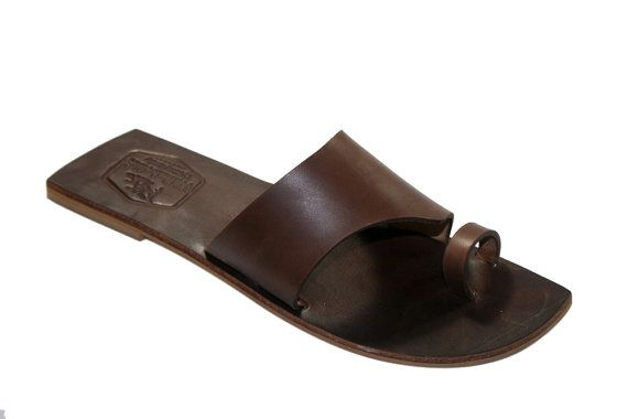 Brown Leather Sandals for Women & Men  Design 14 by WalkaholicS