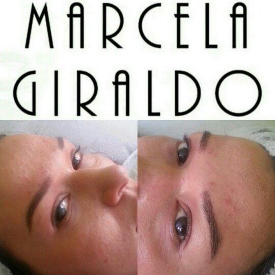 Natalia es de cejas completas pero me faltb diseño y color, aqui el resultado!!!
