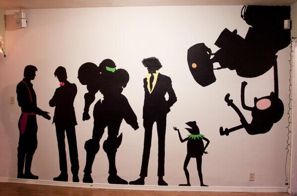 Character silhouette's   Credit: @TJ Williams on Twitter