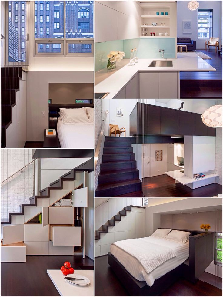Micro studio loft apartment in Manhattan - NYC. | A6.   -  | Pinterest | Manhattan, Lofts and Apartments