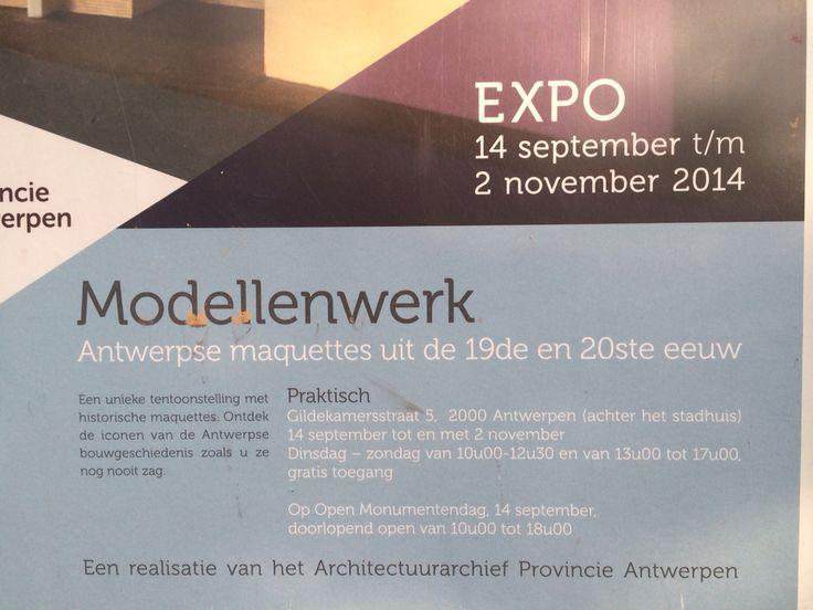 Antwerpse maquettes  Architectuur   Tot 2/11/2014