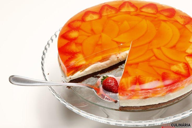 Semifrio de manga com bolo, pura tentação...