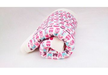 Baby Blanket Japanese dolls - 100% ORGANIC COTTON