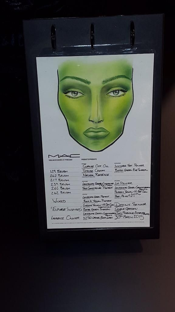 Elphaba Make-Up from MAC Cosmetics