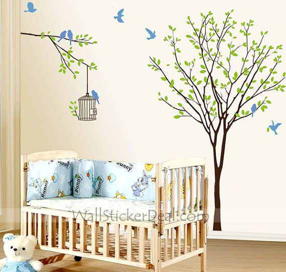 The Birds Flitted from Branch to Branch in the Woods Wall Sticker