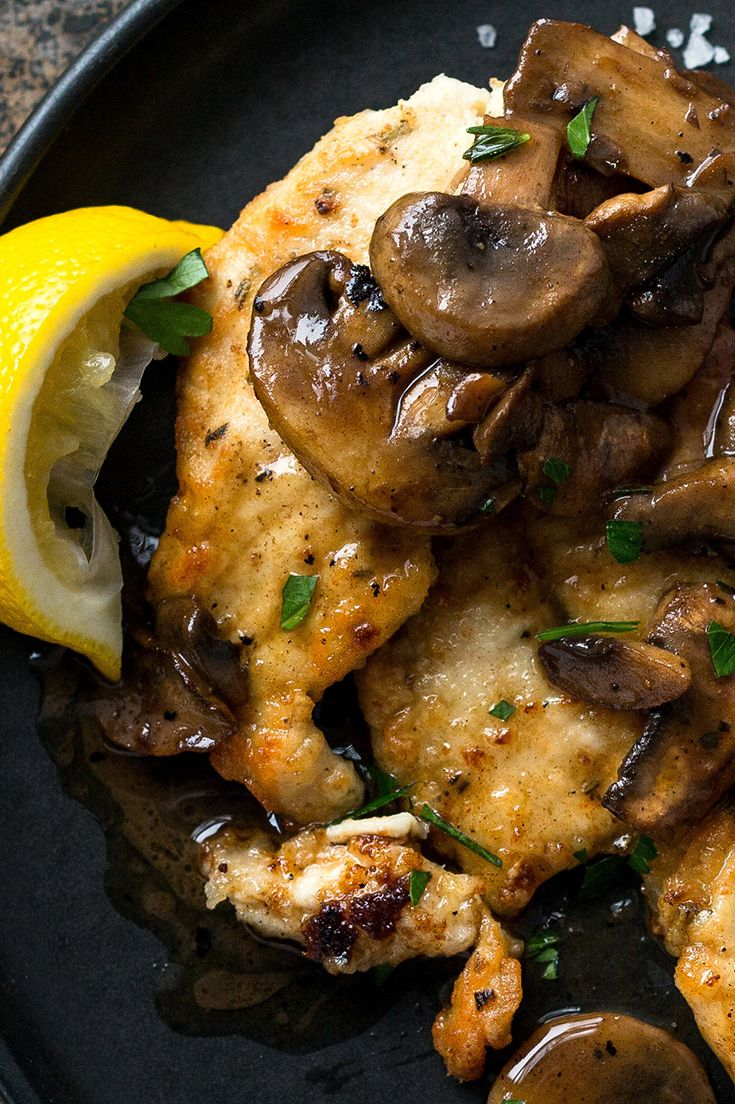 In this Provençal rendition of pan-cooked chicken breasts, the mushrooms take on and added dimension of flavor as they deglaze the pan with the help of one of their favorite partners, dry white wine. (Photo: Andrew Scrivani for The New York Times)