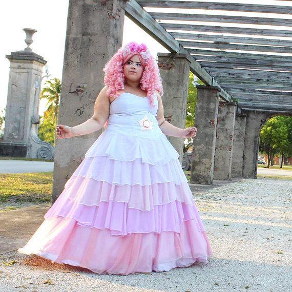 Rose Quartz Cosplay Plus Size Dress Lightly Used  by LolosWardrobe
