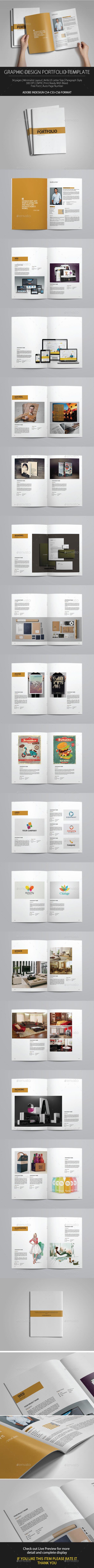 Graphic Design Portfolio Brochure Template InDesign INDD