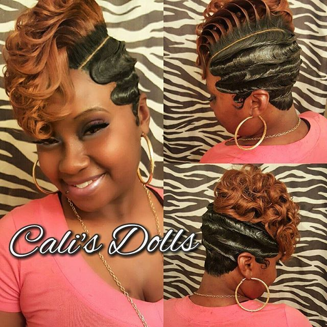 funky hair style fingerwaves quickweave scstylist nohairout 3051