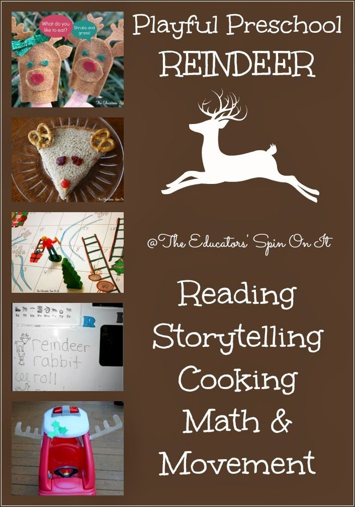 Reindeer activities for winter for your preschool activities including Reindeer reading, storytelling, cooking, math and movement for the holidays.