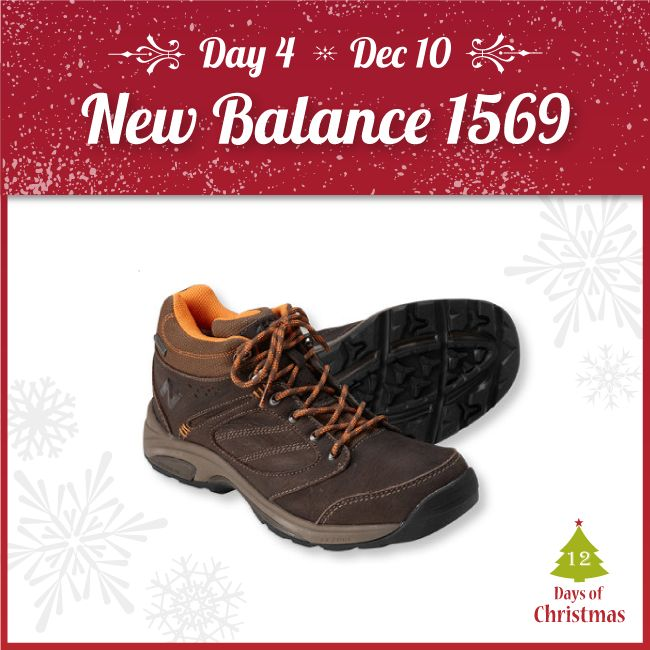 Keep your feet dry and comfortable in rugged and wet terrain!  The New Balance 1569 is perfect for the special trail lover in your life. Both men's and women's models are @ 25% OFF TODAY ONLY!  Buy the shoe in-store, or shop online! http://kint.ec/Day4NB1569  USE CODE: XMAS4