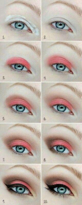 Sombra coral para ojos claros