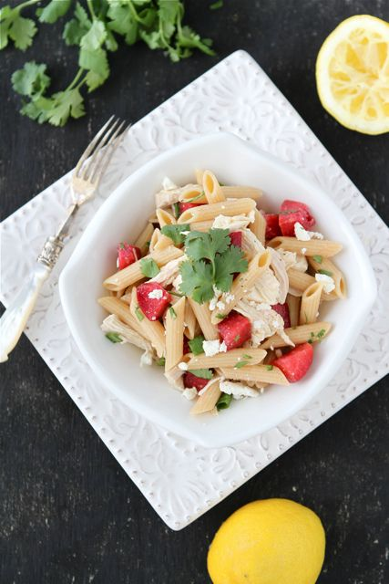 Chicken Pasta Salad With Plums, Feta & Cumin Dressing ...