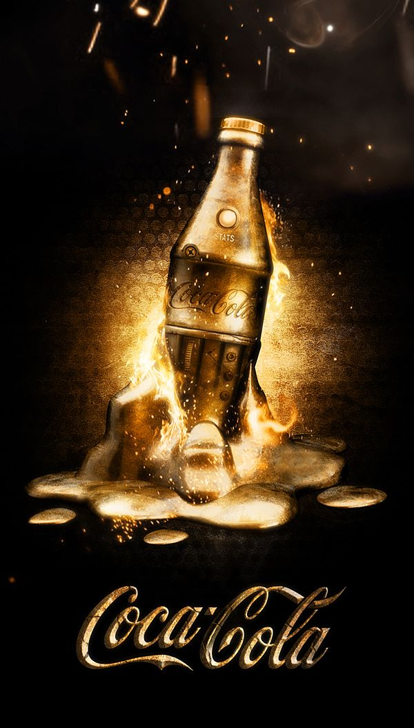 Coca Cola ads by Dmitry Gelishvili, via Behance