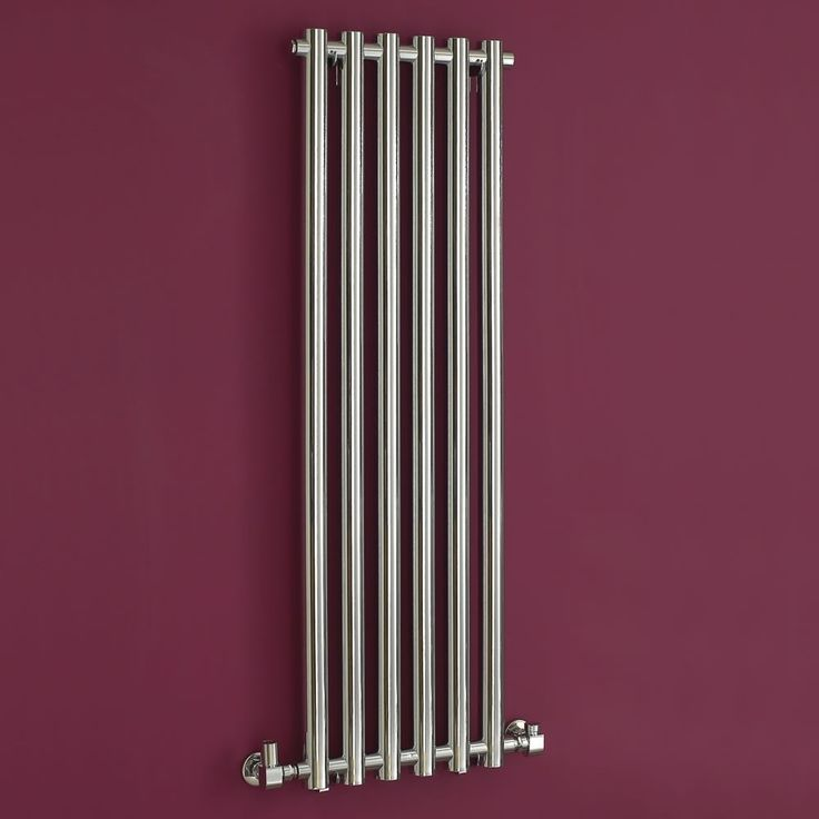 Add some glamour to your home with this chrome-finish, vertical designer radiator by Phoenix.