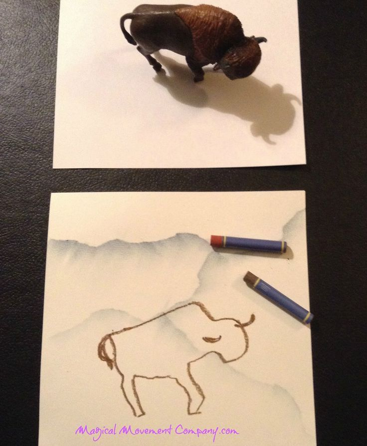"Art History: Ancient Cave art with a fun DIY for ""The Bison"":"