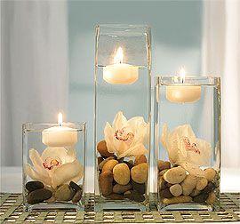 """Imaginez ces """"simples"""" bougies prendre place de façon magique en centre de tabl…"""